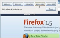 Firefox Add-on Window Resizer