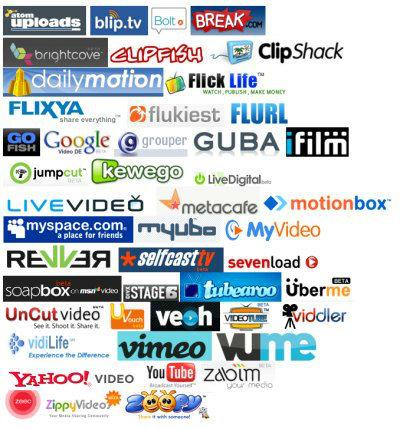 Alternativen zu YouTube & Co. (Logos)