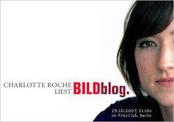 BildBlog-Lesung mit Charlotte Roche (Poster)