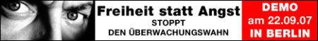 Demo gegen Sicherheits- und Überwachungswahn in Berlin am 22.09.2007