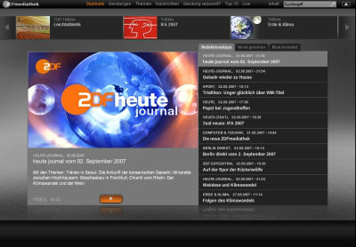 ZDF mediathek (Screenshot)