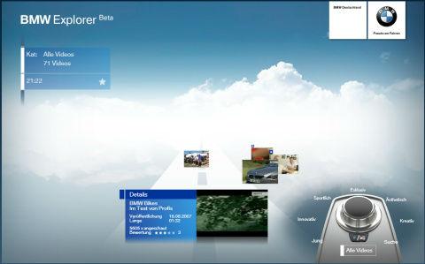BMW Explorer Beta (mit Silverlight)