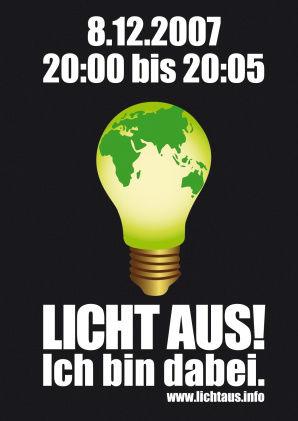 Licht aus! Für unser Klima. (Poster)