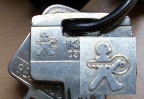 Schlüssel Logo/Zeichen