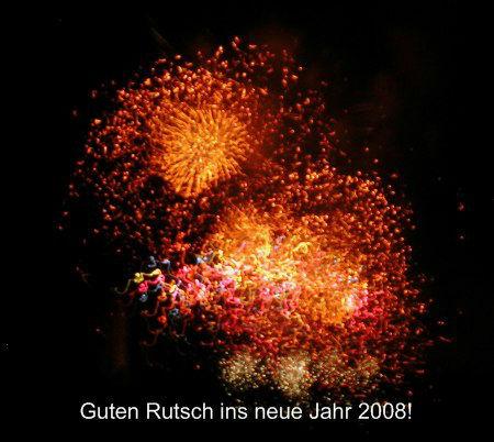 Silvester 2007 (Feuerwerk von der diesjährigen Pyronale)