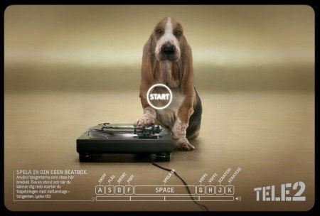 Beatbox Hund von Tele2