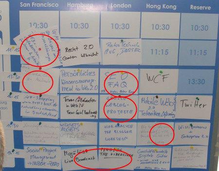 Sessionplan BarCamp Mitteldeutschland Jena (Samstag)