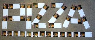 Pizza Schriftzug aus den Dr.Oetker Magnethaftnotizblöcken
