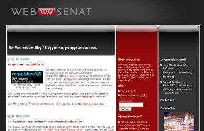 Screenshot vom Websenat Blog