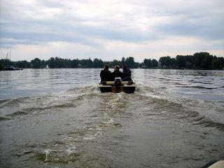 Ein Boot auf dem Müggelsee