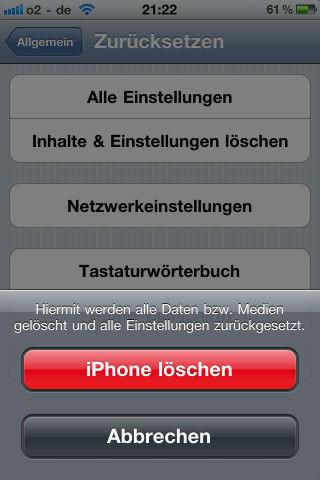 iPhone sicher löschen