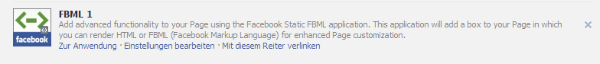 Static FBML anpassen