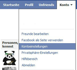 Facbook Kontoeinstellungen