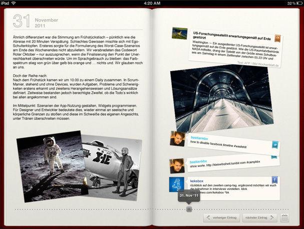 The Diary iPad App