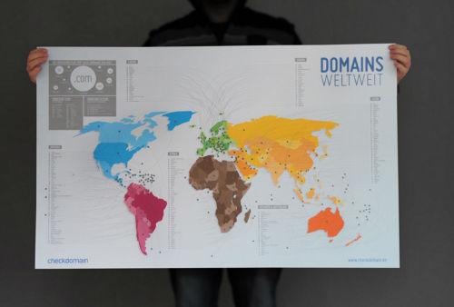 Domain Weltkarte von checkdomain