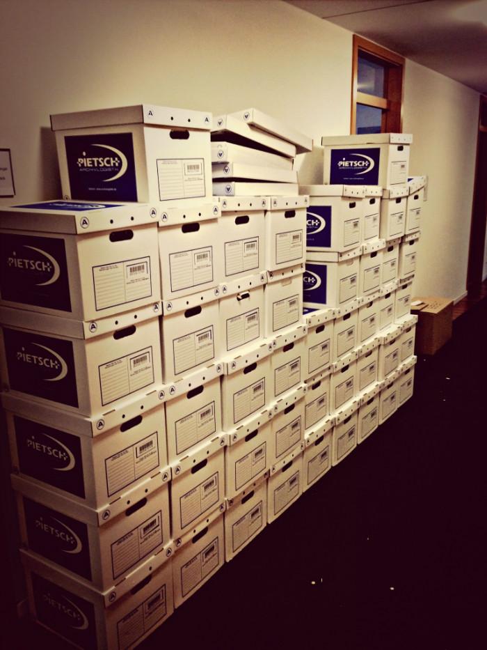 45 Kartons gepackt #dapd
