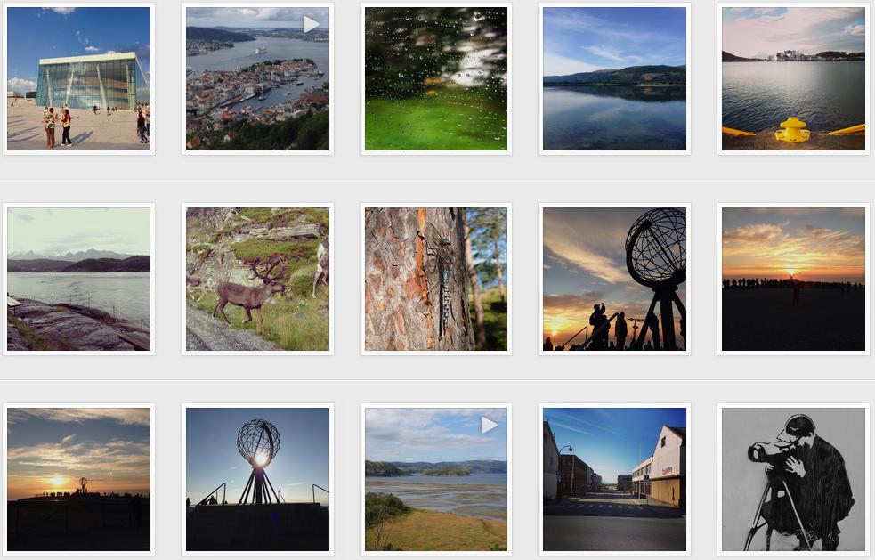 Fotos von Norwegen, Finnland und Schweden