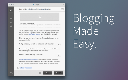 Blogo - Blogging made easy. (via Blogo)